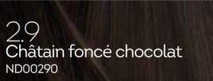 Coloration naturelle chatain foncé chocolat pour cheveux délicats