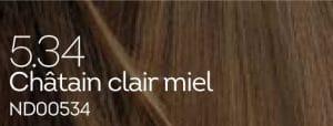 Coloration naturelle chatain clair miel pour cheveux délicats