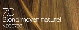 Coloration naturelle blond moyen pour cheveux délicats