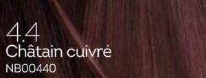 Coloration naturelle chatain cuivré