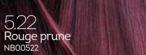 Coloration naturelle rouge prune