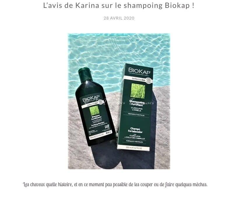 L'avis de Karina sur le shampooing BioKap