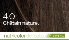Coloration naturelle rapide chatain pour cheveux délicats