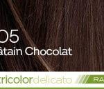 Coloration naturelle rapide chatain chocolat pour cheveux délicats