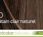 Coloration naturelle rapide chatain clair pour cheveux délicats