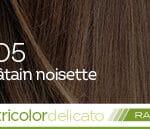 Coloration naturelle rapide chatain noisette pour cheveux délicats