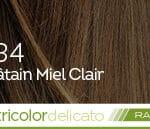 Coloration naturelle rapide chatain miel clair pour cheveux délicats