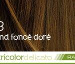 Coloration naturelle rapide blond foncé doré pour cheveux délicats