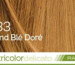 Coloration naturelle rapide blond blé doré pour cheveux délicats
