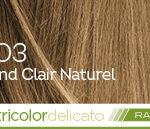 Coloration naturelle rapide blond clair naturel pour cheveux délicats