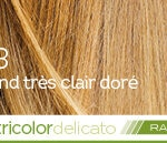 Coloration naturelle rapide blond très clair doré pour cheveux délicats
