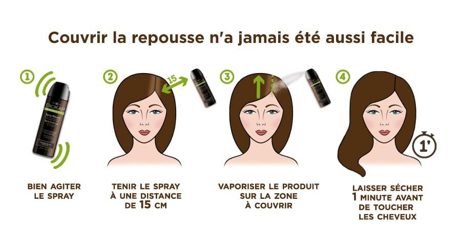 Comment utiliser facilement le spray retouche BioKap pour couvrir les racines des cheveux blancs
